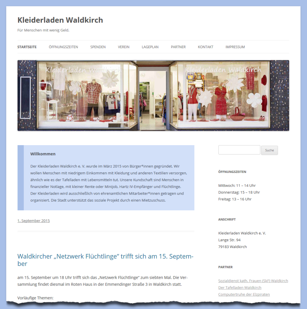 Kleiderladen-Website