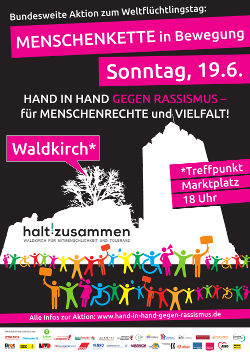 Menschenkette in Bewegung (Plakat)