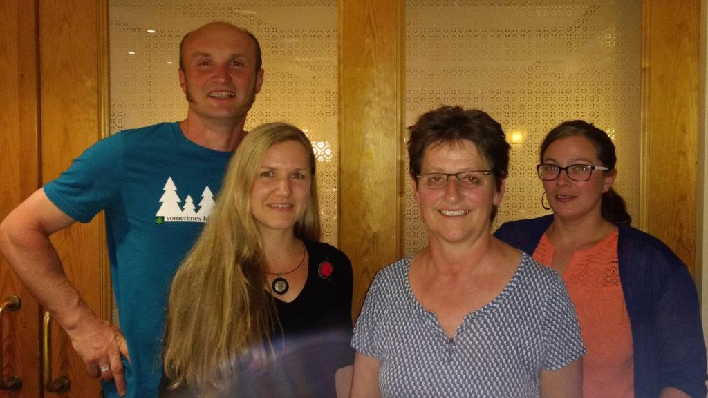 Die zukünftigen Gemeinderatsmitglieder der Ökologischen Liste Gutach: Stefan Weis, Annette Linder, Barbara Schuler und Beate Roser.