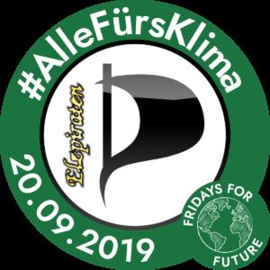 """Verschmelzung unseres Elzpiratenlogos mit dem """"Fridays for Future""""-Logo."""