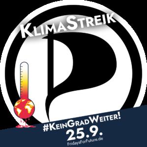 """Verschmelzung unseres """"Elzpiraten""""-Logos mit dem #KeinGradWeiter-Logo."""