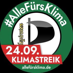 """Verschmelzung unseres """"Elzpiraten""""-Logos mit dem #AlleFürsKlima-Logo."""